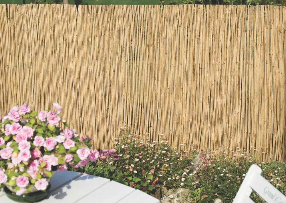Image of Apollo Natural Reed Garden Screen 1 x 4m