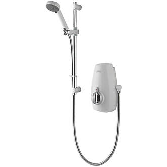Image of Aqualisa Aquastream Gravity-Pumped White / Chrome Thermostatic Power Shower
