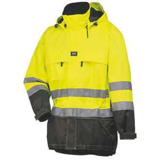 Helly Hansen HiVis Parka Jacket YellowCharcoal Large 42½ Chest