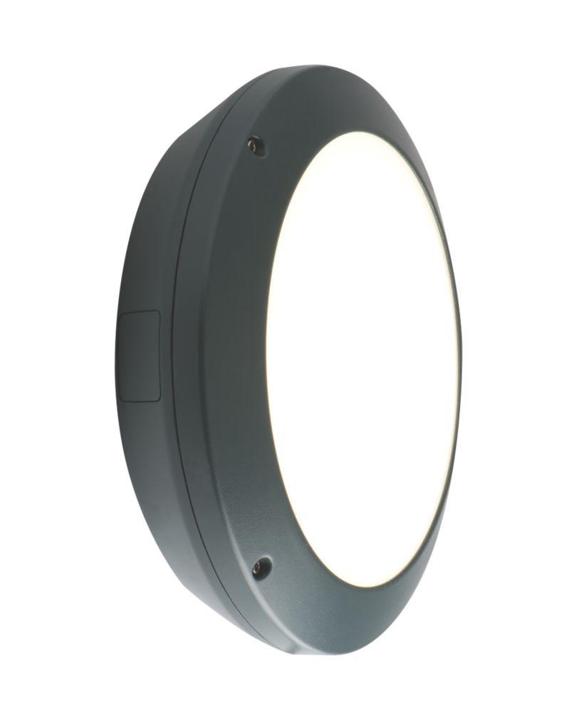 Image of Luceco Atlas LED Anti-Vandal LED Bulkhead Graphite Grey 17W