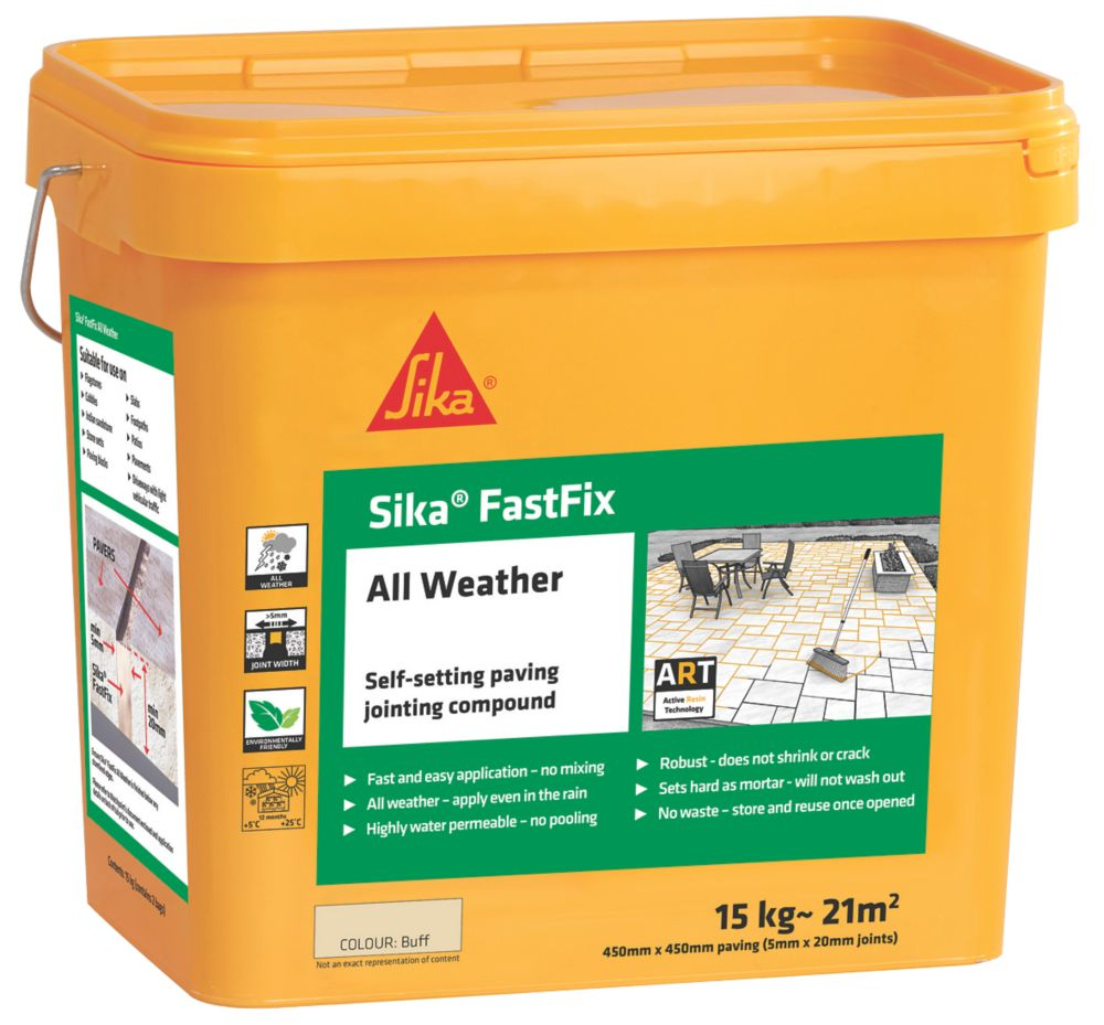 Image of Sika Fast Fix All-Weather Self-Setting Joint Compound Buff 15kg