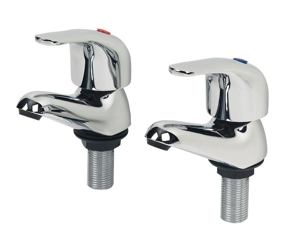 Image of Swirl Bathroom Basin Taps Pair