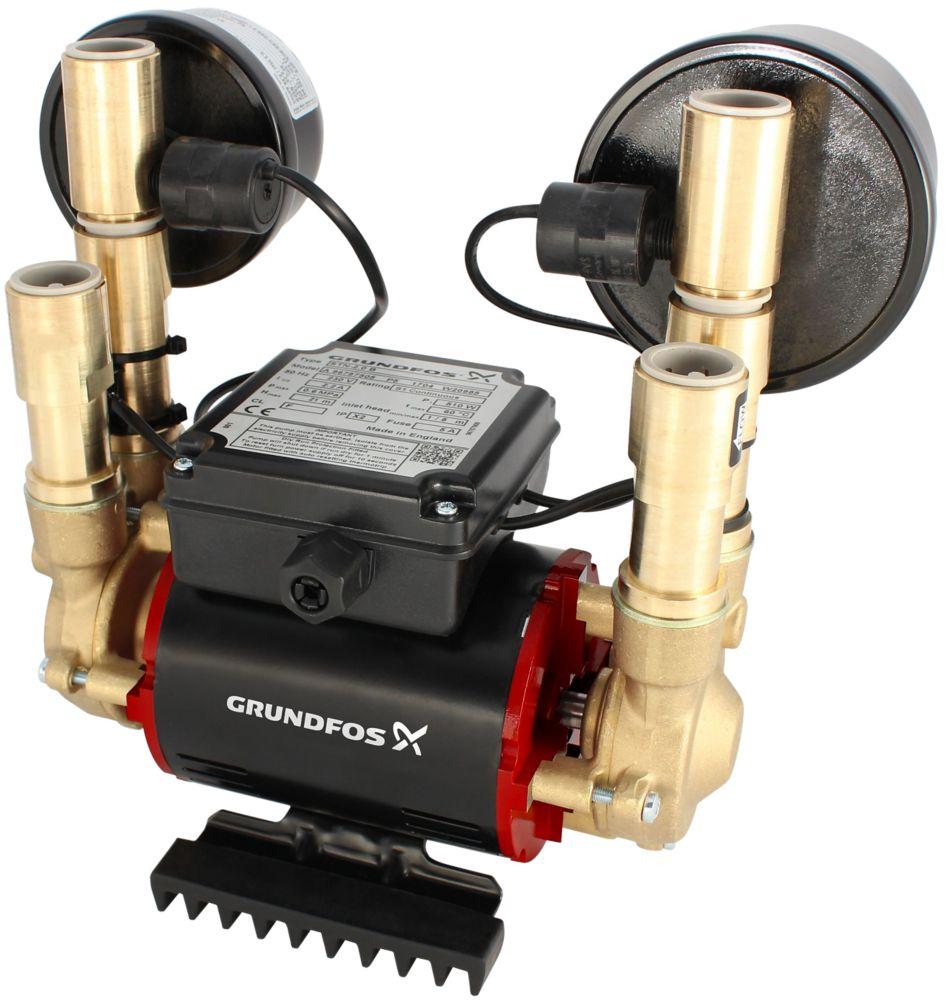 Image of Grundfos 96788173 Regenerative Twin Shower Pump 3.0bar