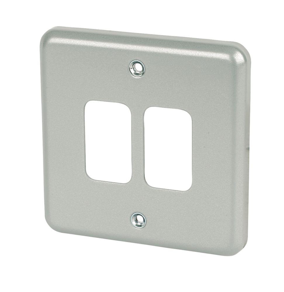 Image of MK 2-Gang Front Plate Metal-Clad