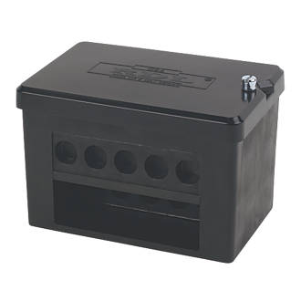 Image of 2 x 5-Way DP 100A Service Connector Block 35mm²
