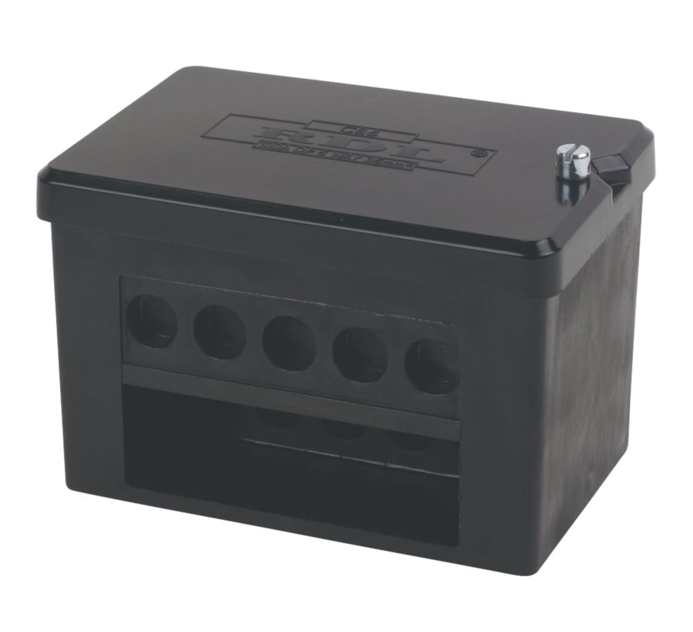Image of 2 x 5-Way DP 100A Service Connector Block 35mm