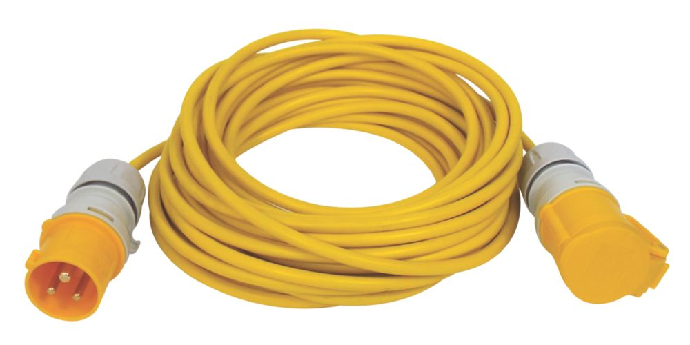 Image of Carroll & Meynell 110V Extension Lead Yellow 2.5mm x 14m