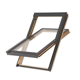 Image of Tyrem M4A Manual Centre-Pivot Lacquered Natural Pine Roof Window Clear 780 x 980mm