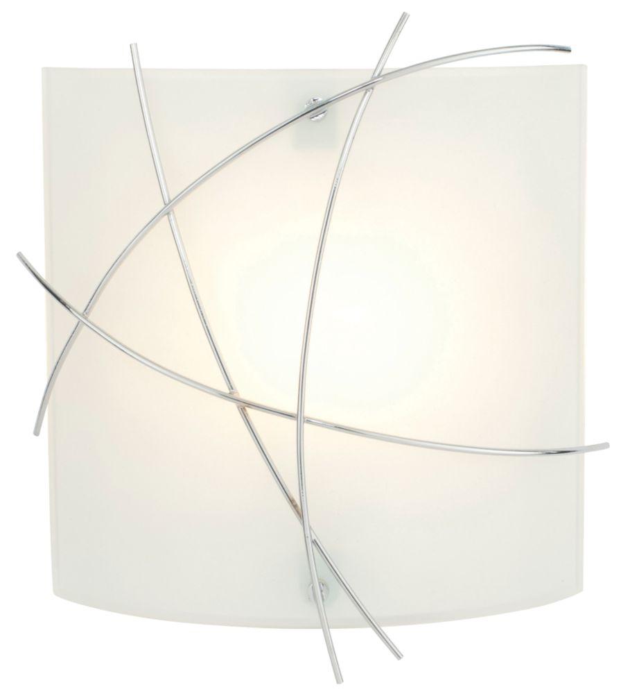 Image of Largo Bathroom Wall Light Chrome Effect & Matt Glass 40W