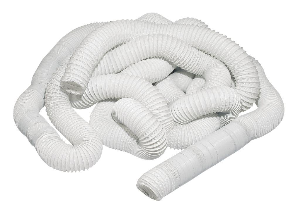 Image of PVC Flexible Ducting Hose White 45m x 100mm