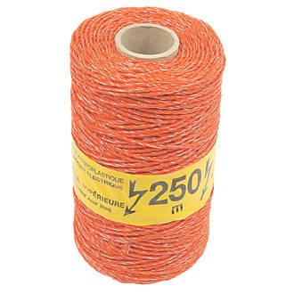 Image of Stockshop Electric Fence Polywire Orange 3mm x 250m