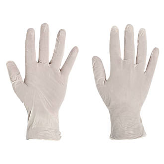 Image of Polyco Finity Vinyl Powder-Free Disposable Gloves Natural Large 100 Pack