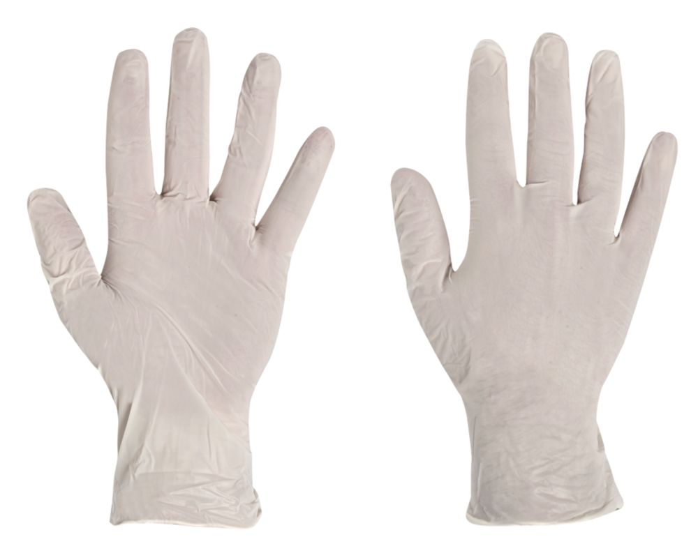 Image of Polyco Finity Synthetic Powder-Free Disposable Gloves Natural Large 100 Pack