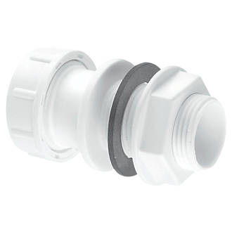 Image of McAlpine Straight Overflow Tank Connector White 22mm