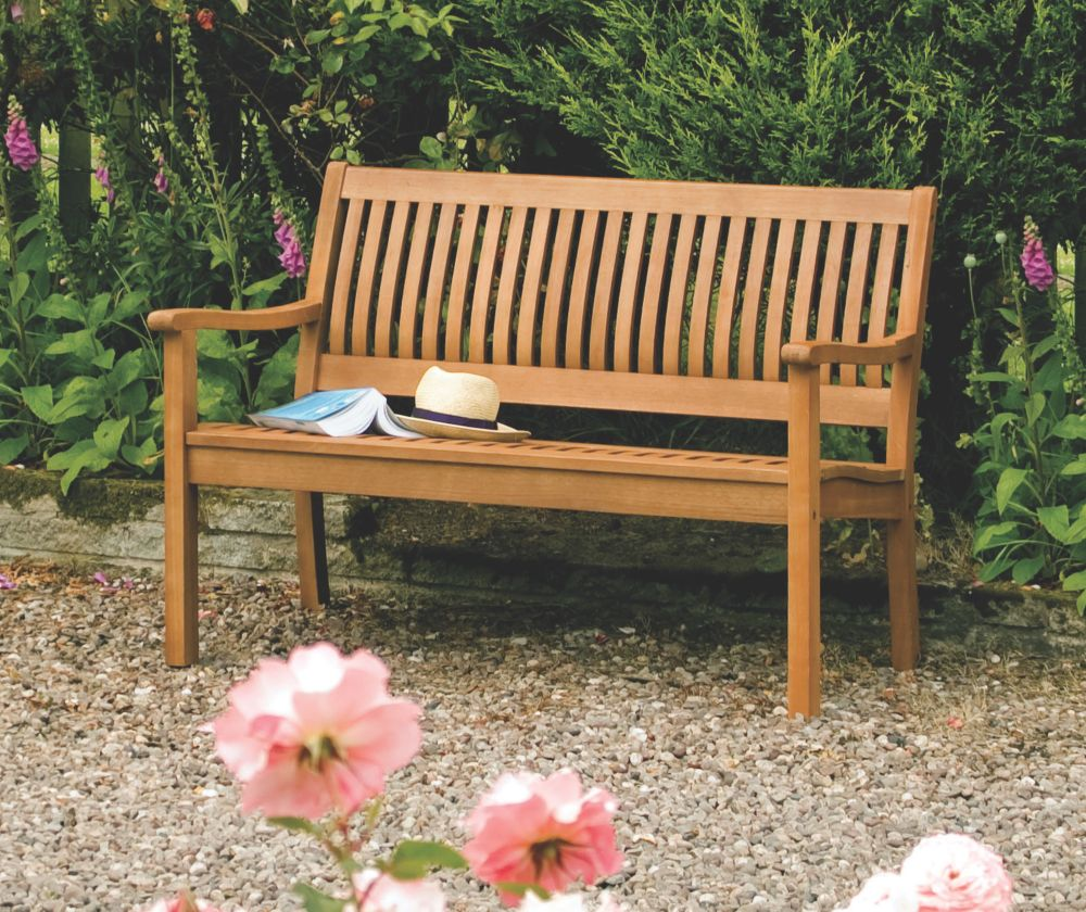 Image of Rowlinson Willington Garden Bench Hardwood 1240 x 720 x 870mm