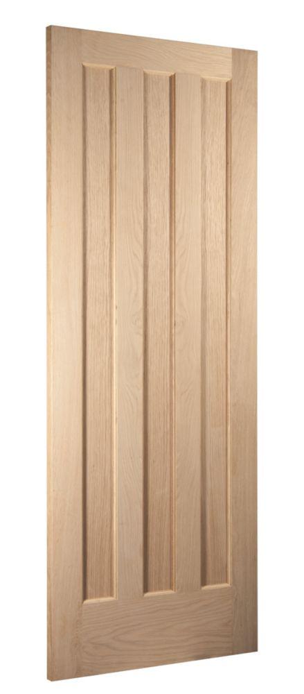 Image of Jeld-Wen Aston 3-Panel Interior Door Oak Veneer 2040 x 826mm