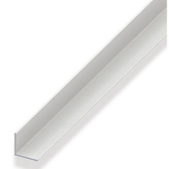 Image of Alfer White PVC Equal-Sided Angle 1000 x 20 x 20mm