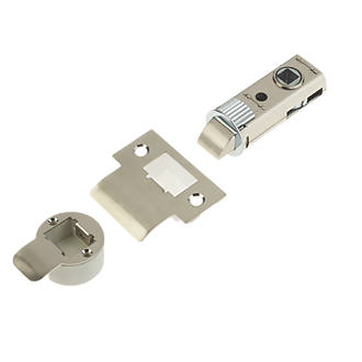 Image of Union Satin Nickel-Plated Tubular Mortice Latch 60mm Case - 44mm Backset