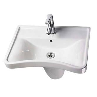 Image of AKW Concave Semi-Pedestal Bathroom Basin 1 Tap Hole 600mm
