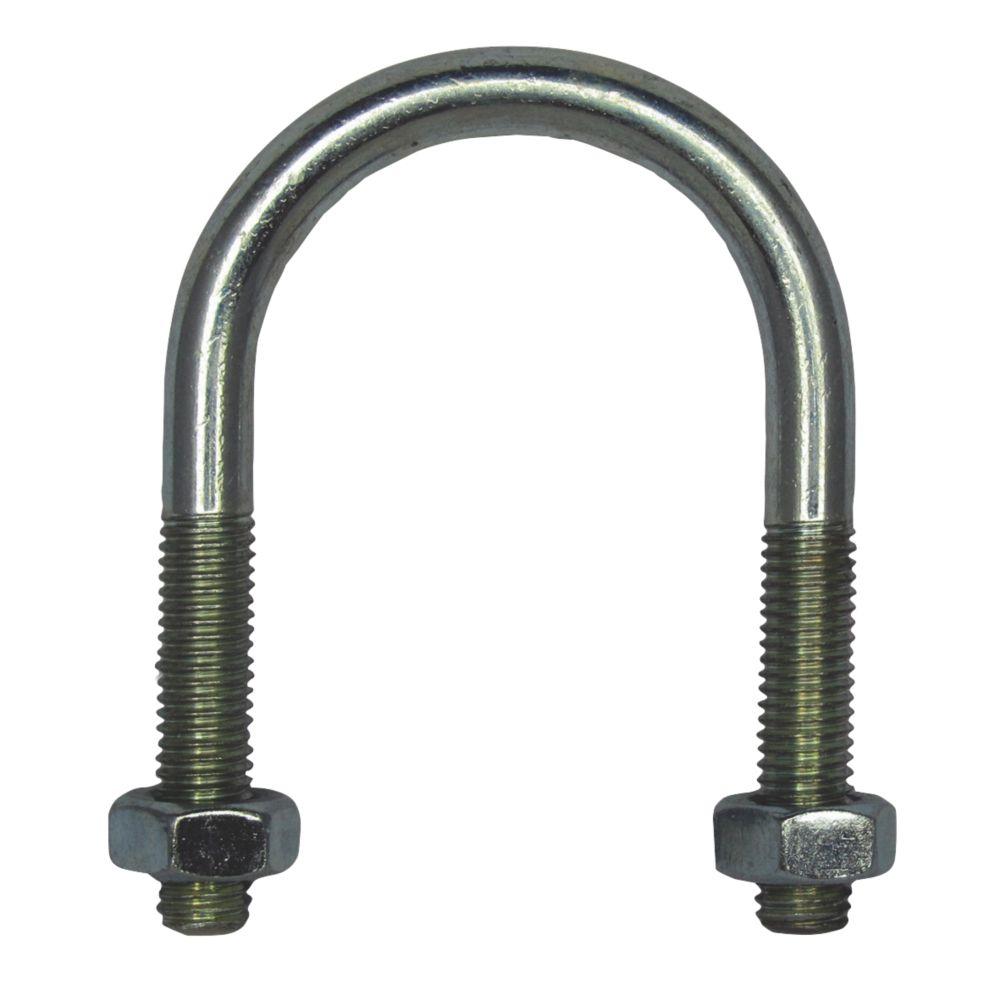 Image of Rawlplug Bright Zinc-Plated Steel U Bolt M6 x 53mm