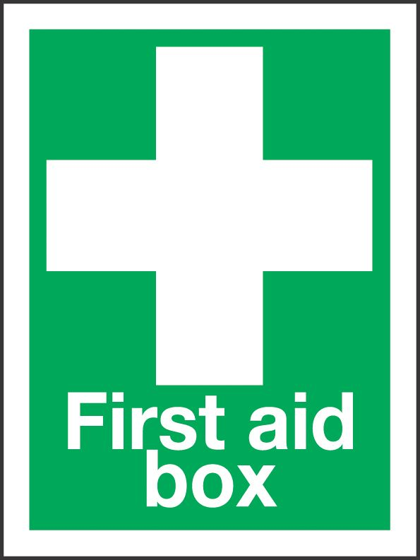 "Image of First Aid Box"" Sign 200 x 150mm"
