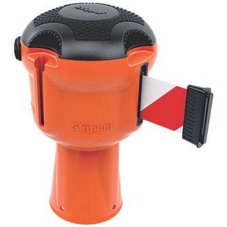 Image of Skipper Retractable Barrier Orange with Red & White Tape