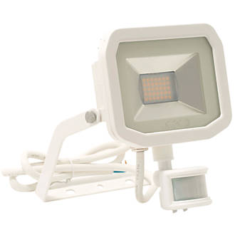 Image of Luceco Guardian Slim LED PIR Floodlight White 22W Cool White