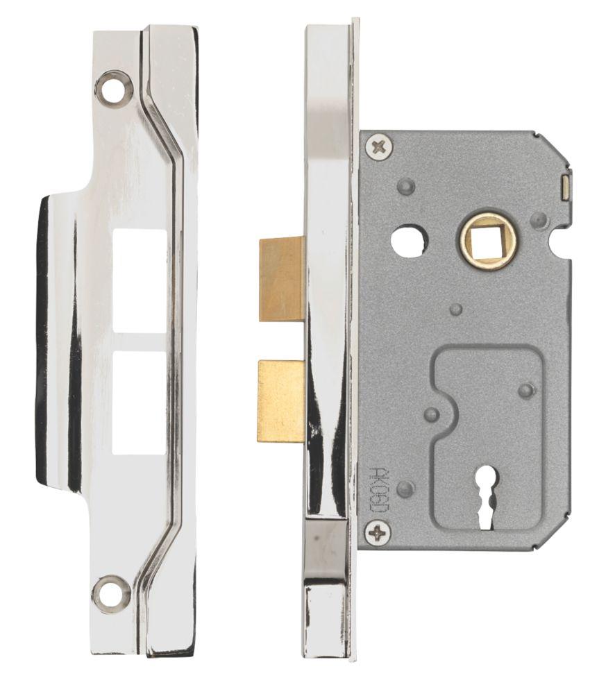 """Image of Eurospec 2-Lever Rebated Sashlock Nickel plate 1"""" / 44mm"""