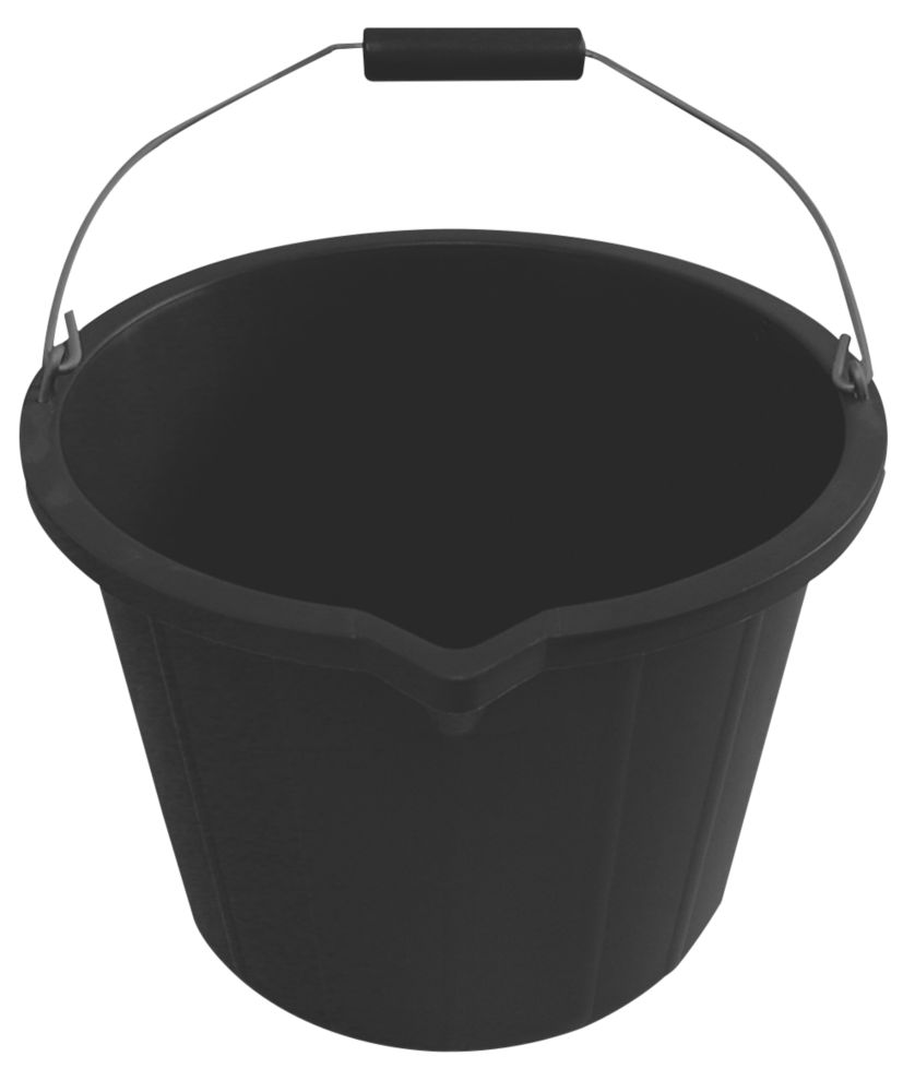 Image of Active Builders Buckets 14Ltr Black 3 Pack