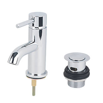 Image of Swirl Ola Basin Mono Mixer Tap with Clicker Waste