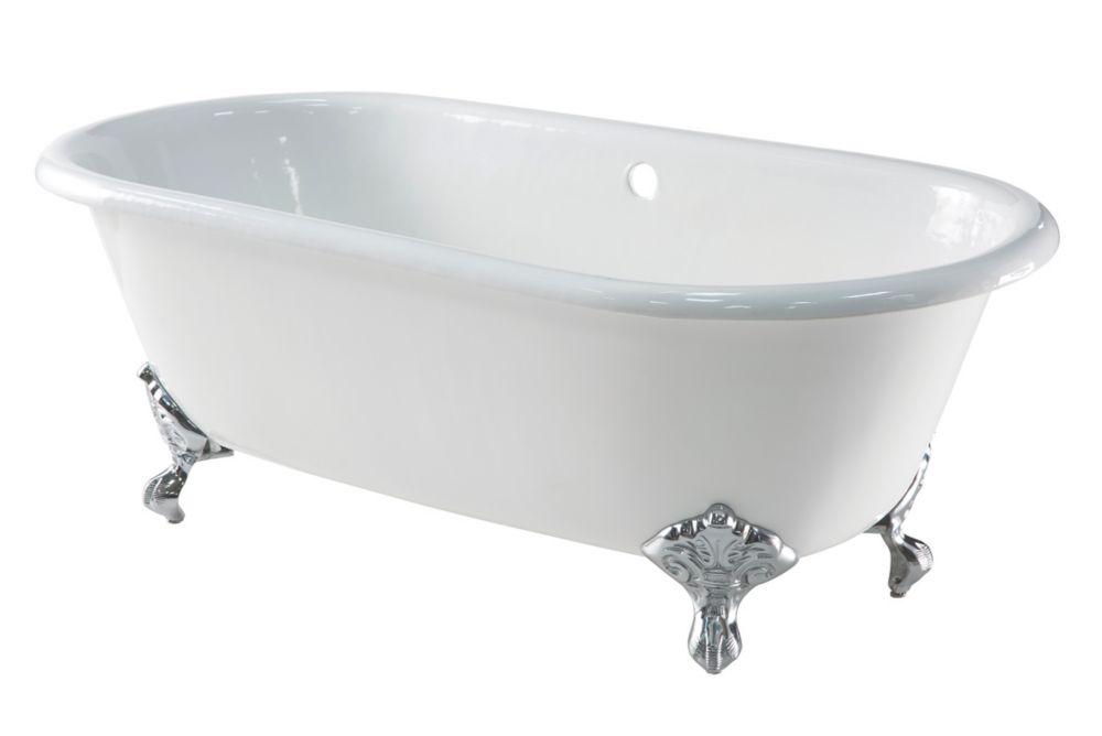Image of Arroll Roll Top Bath Cast Iron No Tap Holes 1676mm