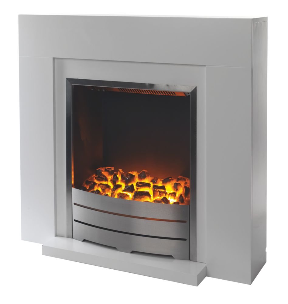 Image of Beccles Electric Fireplace Suite White
