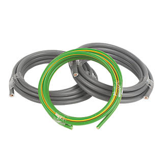 Image of Prysmian 6181Y & 6491X Grey & Green/Yellow 1-Core 16mm² Meter Tails Cable 3m Coil