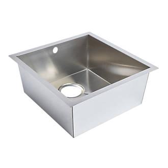 Undermount Kitchen Sink Stainless Steel 1 Bowl 430 x 450mm | Sinks ...