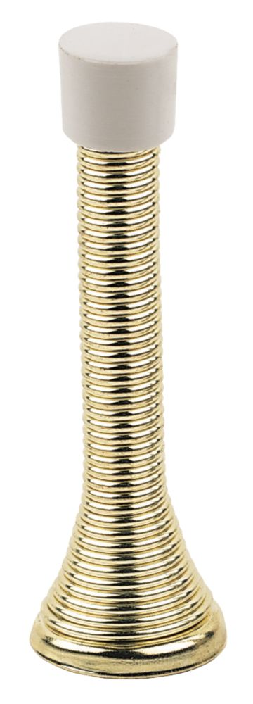 Image of Cylinder Projection Door Stop Electro Brass 10 Pack