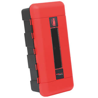 Image of Firechief 106-1001 Single Extinguisher Cabinet 335 x 240 x 715mm Red / Black