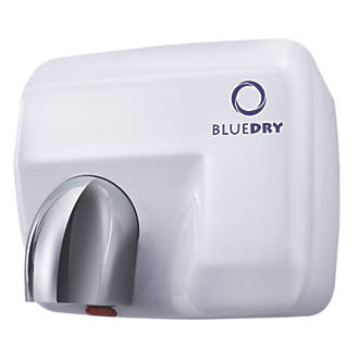 Image of BlueDry Blue Storm High Speed Hand Dryer White 2.3kW