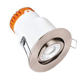 Image of Enlite E8 Adjustable Fire Rated LED Downlight Satin Nickel 640lm 8W 220-240V