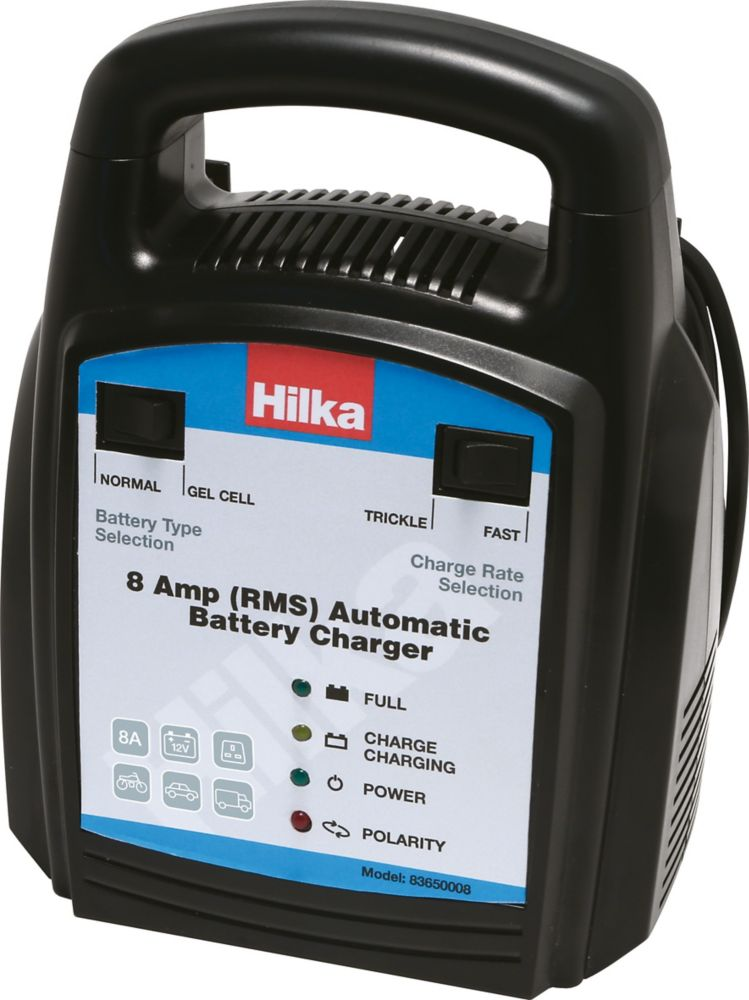 Image of Hilka Pro-Craft 83650008 8A Automatic Battery Charger 12V