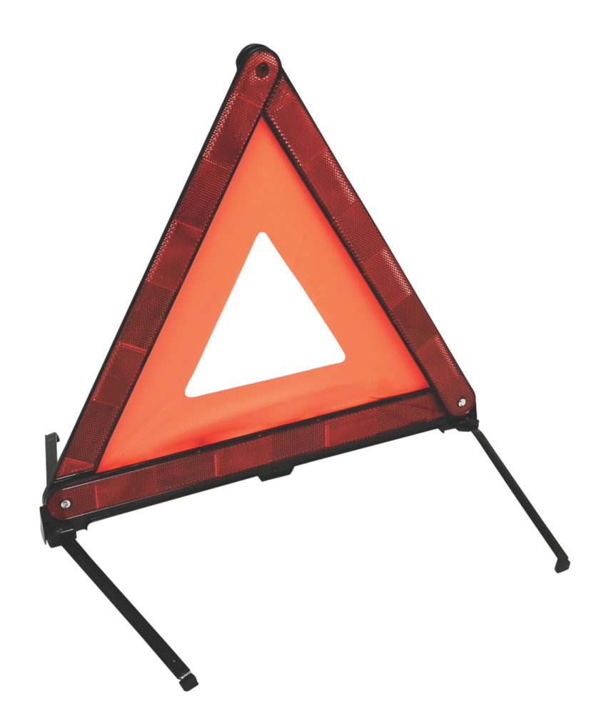 Image of Hilka Pro-Craft Foldable Warning Triangle Red