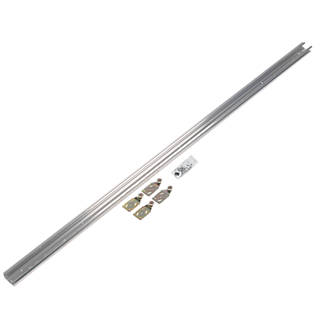 Image of Henderson Double-Top W18 2-Door Sliding Track System Silver 1800mm