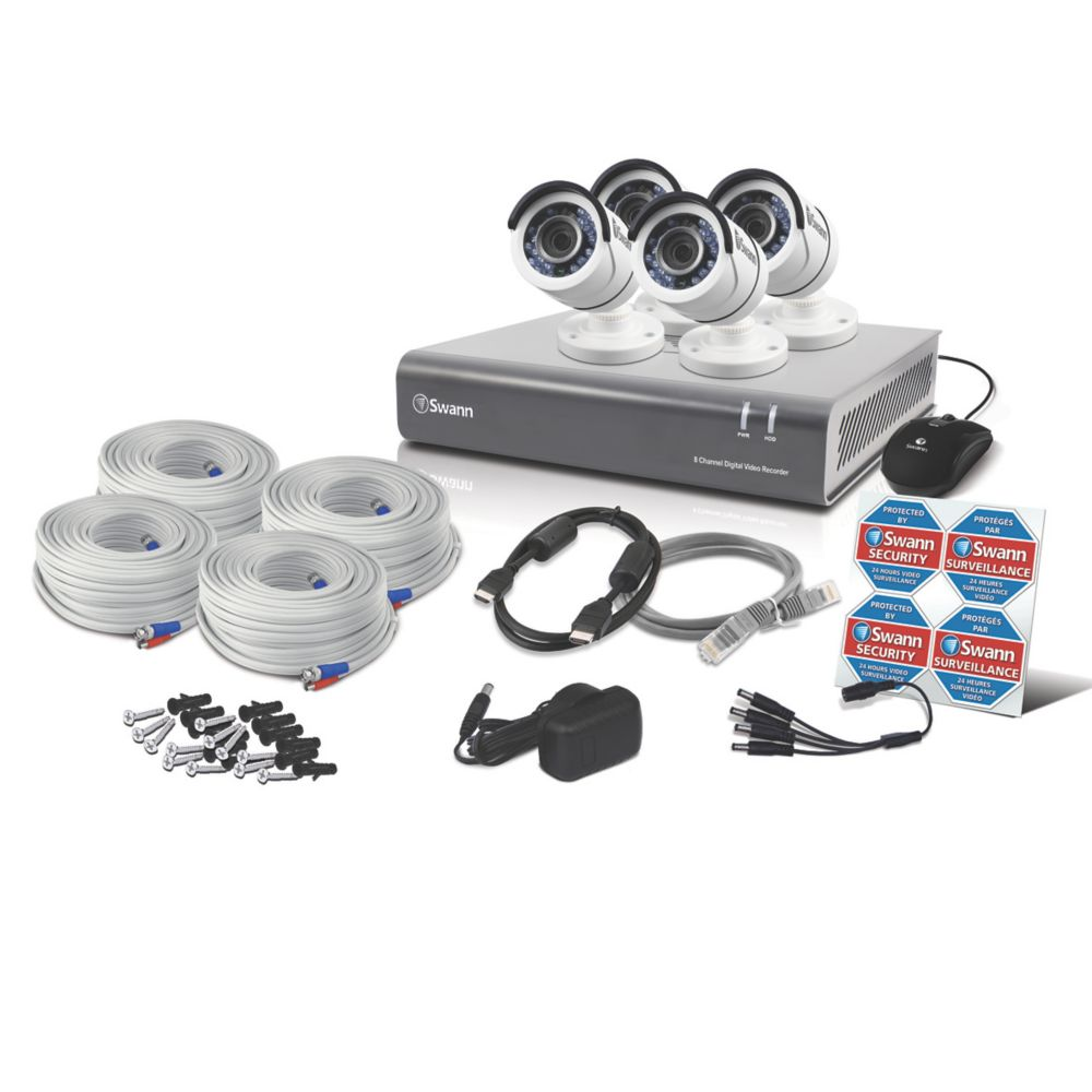 Image of Swann SWDVK-845504-UK 8-Channel Security System & 4 Cameras