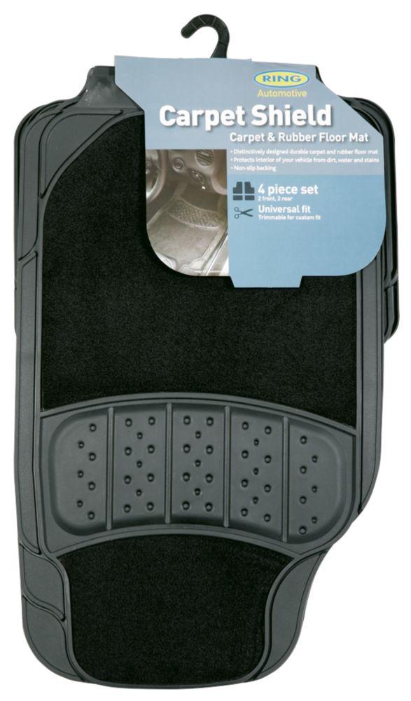 Image of Ring Ultra Shield 5000 Universal Car Floor Mats 4 Pack