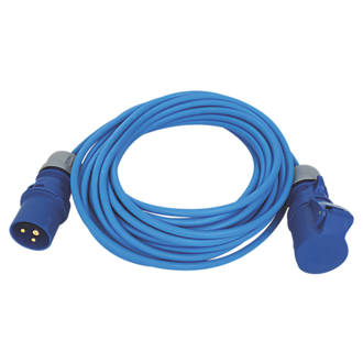 Image of Carroll & Meynell 230-240V Extension Lead Blue 1.5mm x 14m