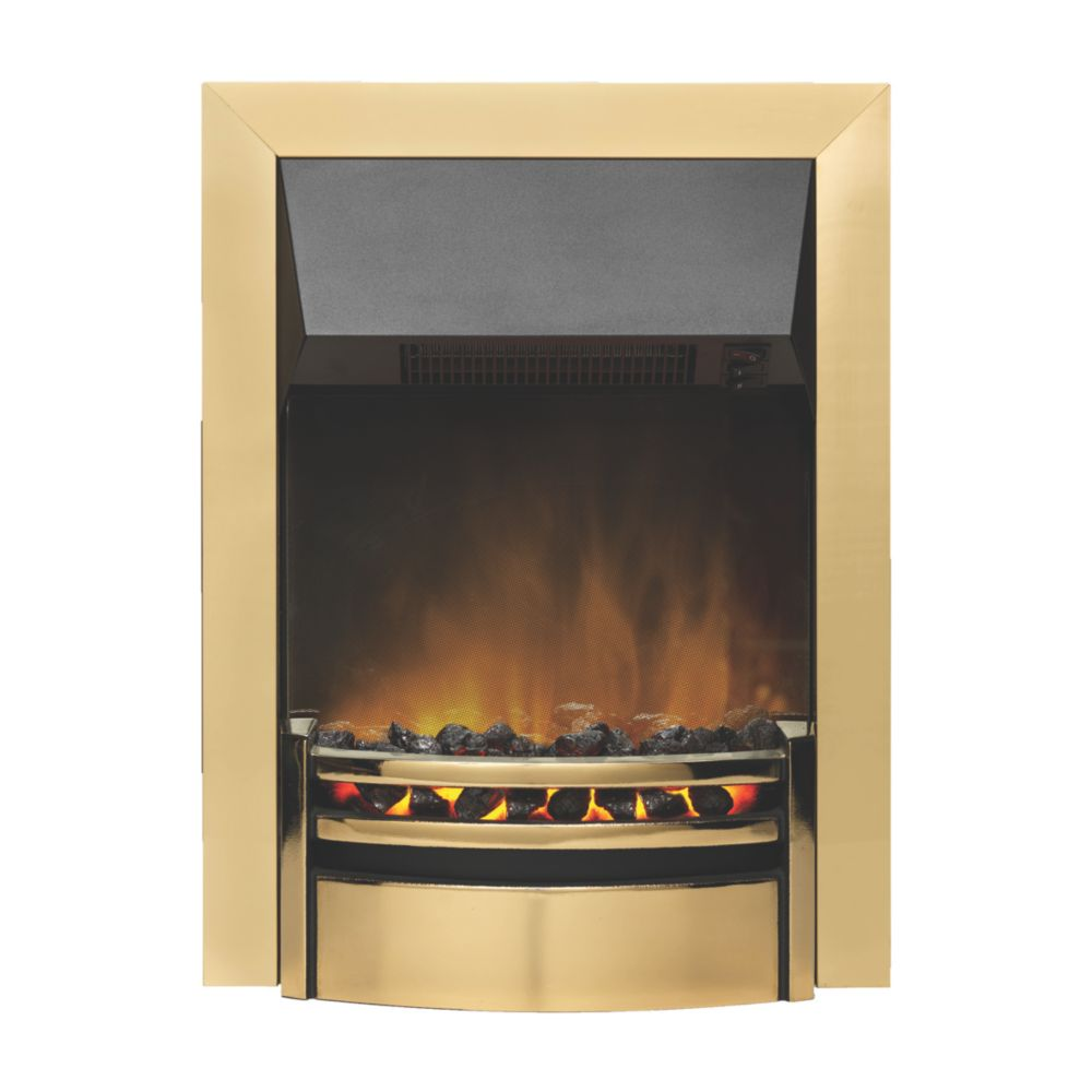 Image of Dimplex Kansas Brass Switch Control Inset Electric Fire