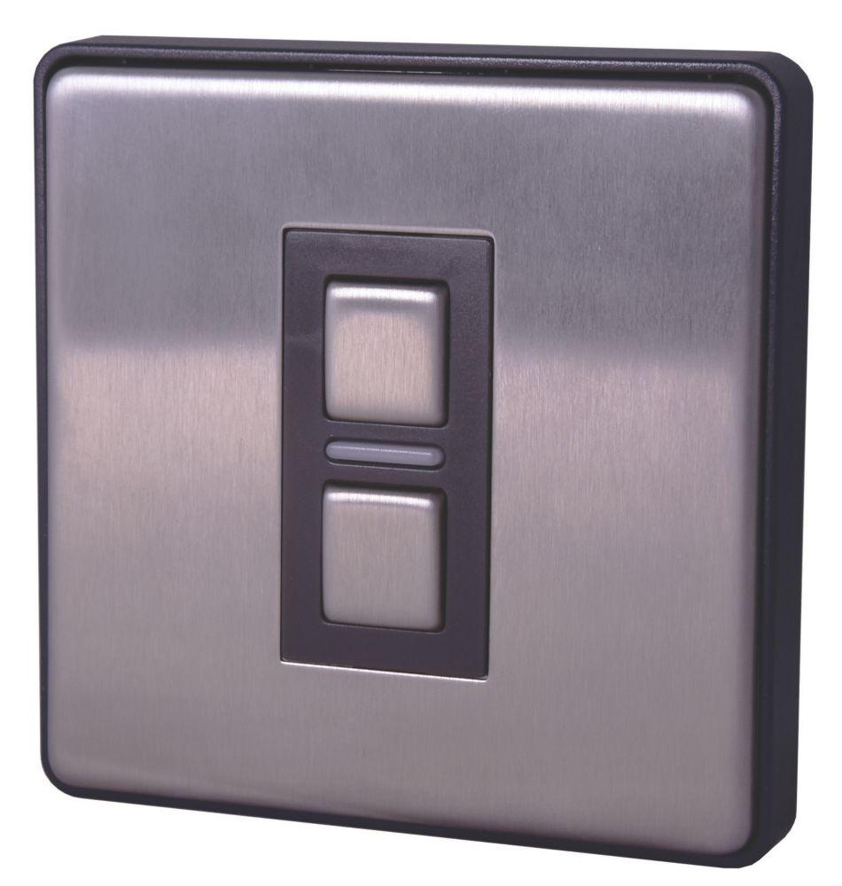 Image of Lightwave 1-Gang 2-Way LED Generation 2 Smart Dimmer Switch Brushed Stainless Steel