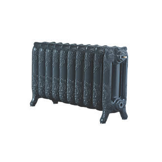 Image of Arroll 3-Column Cast Iron Radiator 470 x 834mm Anthracite