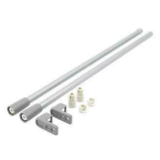 Image of Hafele Drawer Rail Set Grey 450mm 2 Pack