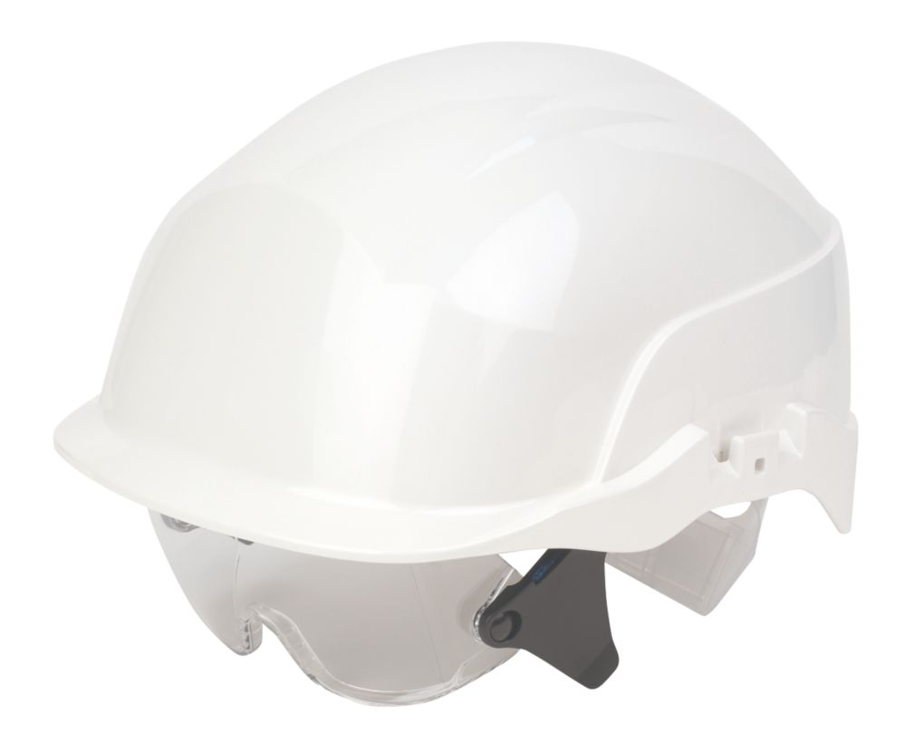 Image of Centurion Spectrum Vented Safety Helemt & Overspecs White