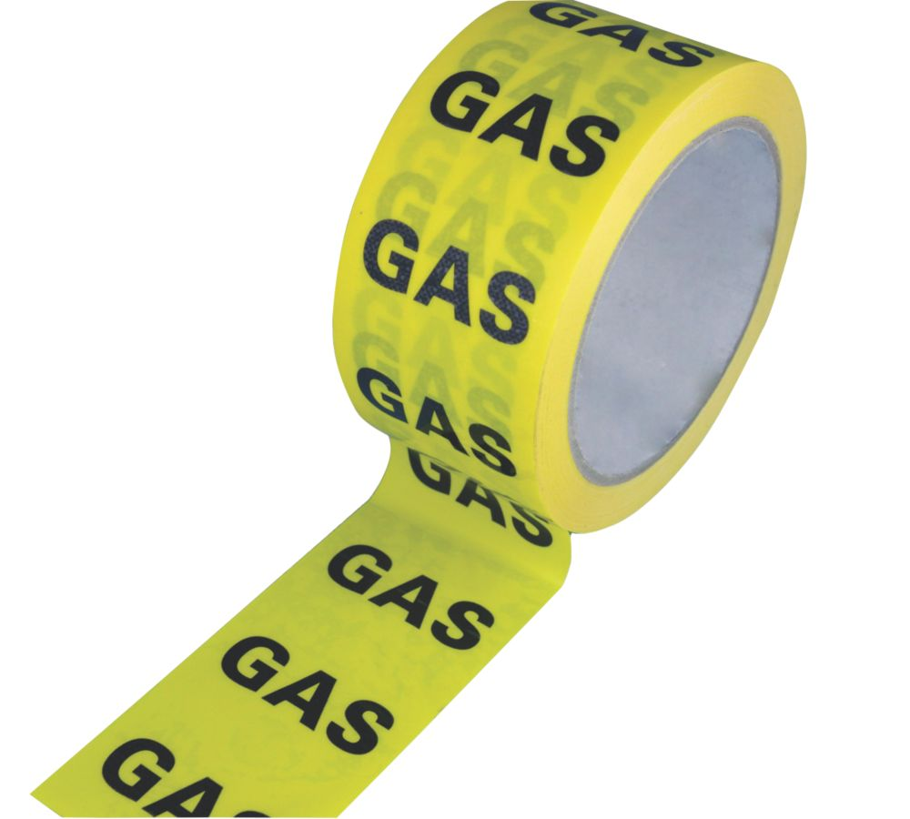 Image of Hayes UK Gas Identification Tape 50mm x 33m
